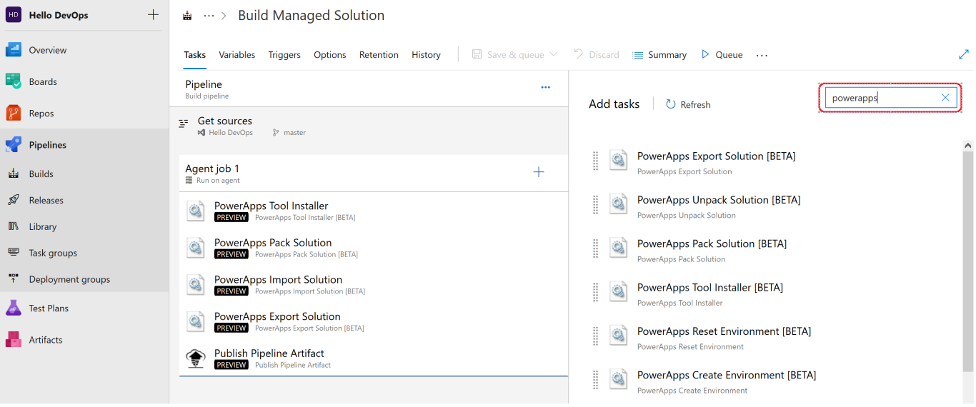 screenshot of sample Azure DevOps pipeline!